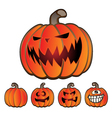 Halloween Holiday Pumpkin Jack O Lantern Set vector image