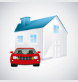 house and car desig vector image