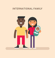 International family African american and european vector image