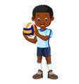 kids playing volleyball vector image