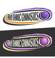 logos for rhythmic gymnastics vector image