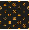 ramadan islam holiday icons seamless pattern eps10 vector image