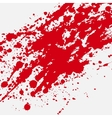 Red bloody blots and splatters vector image