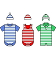 Set of the Baby clothes vector image