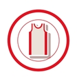 sleeveless shirt clothes vector image