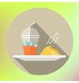 smoothie mashed potatoes flat icon vector image