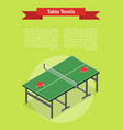 table tennis game banner card isometric view vector image