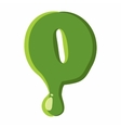 Numder 0 made of green slime vector image