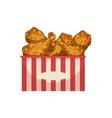 Chicken Legs Street Food Menu Item Realistic vector image