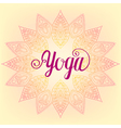 zentangle Yoga design hand drawn template emblem vector image vector image