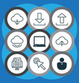 set of 9 web icons includes account pc virtual vector image