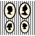 Family portrait silhouettes vector image