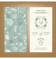 wedding invitation green2 vector image vector image