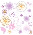 Floral pink ornament vector image