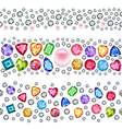 Seamless scattered gems vector image