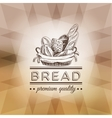 hand drawn with bread label vector image