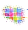colorful watercolor grunge spot for design vector image