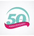 Template Logo 50 Anniversary vector image