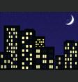 night scenery vector image vector image