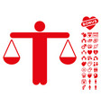 judge person icon with lovely bonus vector image