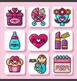 mothers day icons 1 vector image