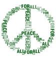 peace for all white bg vector image