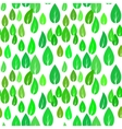 Summer Green Different Leaves Seamless Pattern vector image