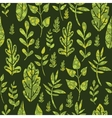 Textured green Leaves Seamless Pattern Background vector image