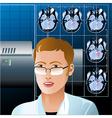 The diagnostic vector image
