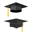 university academic graduation caps vector image