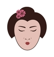 east asian woman icon image vector image