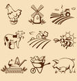 Farm emblems vector image vector image