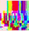 colorful glitch warp background vector image