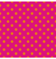 Tile pattern orange polka dots on pink background vector image vector image