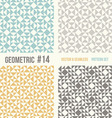 Set of four geometric patterns vector image
