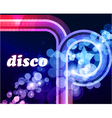 colorful disco background vector image vector image
