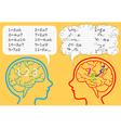 Dyscalculia brain vector image