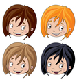 set of head girl vector image