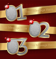 Design templates with numbered golden banners vector image
