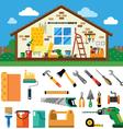 Home repair landscape vector image