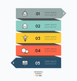 infographic elements with business icons design vector image