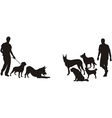 Men and dogs vector image