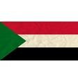 Sudan paper flag vector image