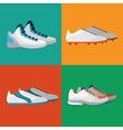 Various sport shoes icons set vector image