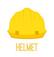 yellow helmet work toolcartoon flat style vector image