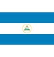 Nicaraguan flag vector image