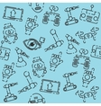 Robotic set pattern vector image