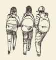 pupils primary school sketch vector image