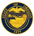 Oregon state seal vector image
