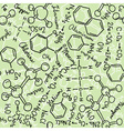 chemistry drawings seamless pattern vector image vector image